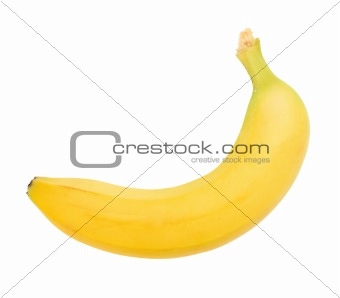 Single yellow banana
