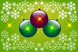 christmas background with christmas balls