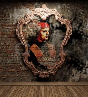 antique portrait fresco