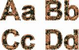 Arial Black Alphabet stylized to rusty painted metal