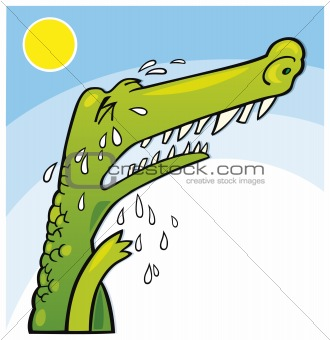 Crying crocodile