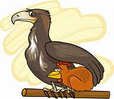eagle and chicken