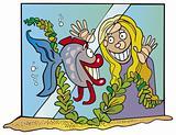 Girl and fish