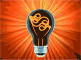 vector bulb, which represents the profitable idea