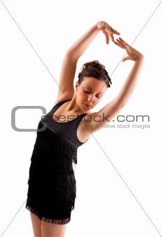 Latina dance posing.