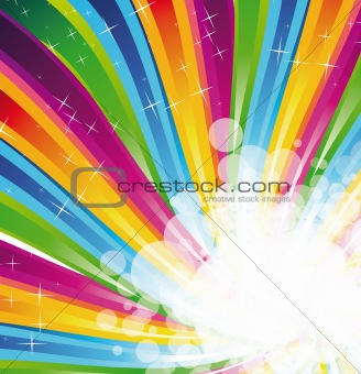Abstract Rainbow Spectrum Background for Brochure