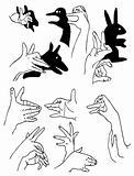 vector figures made hand