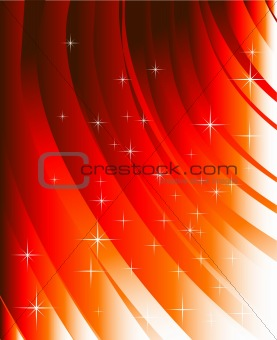 Abstract red lines and design elements
