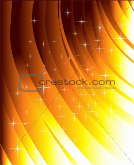 Abstract gold lines and star light
