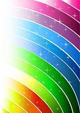 Abstract rainbow light lines