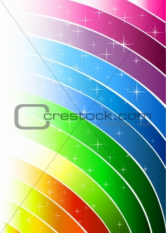 Abstract rainbow light lines