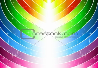 Abstract rainbow lines and bright tree
