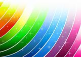 Abstract rainbow with lines and design elements