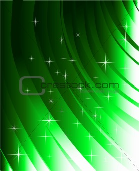 Abstract green lines and design elements