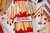 Red Safety Matches