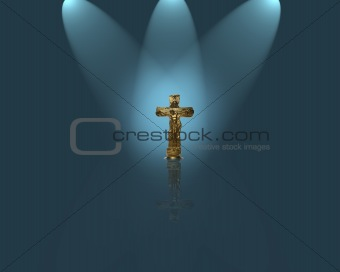 Crucifix with spotlight