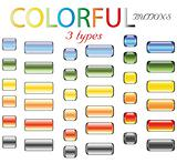 Colored glossy buttons in retro style