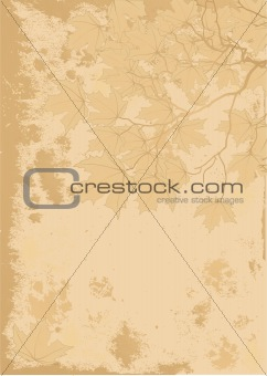 Autumn leaves antique background