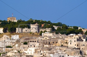 Castle and the Sassi of Matera