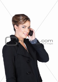Smiling  young woman with cellphone