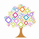 colorful vector tree