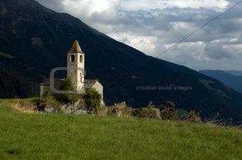 Church in the mountain, San Vigilio di Marebbe