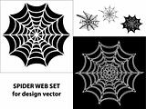 Spider web set icons for design