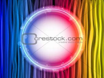 Abstract Rainbow Lines Background with White Circle
