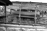 Escalo Formentera boat stranded wooden rails