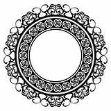 Decorated medallion frame