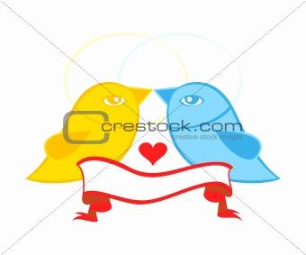 Pair of birds in love