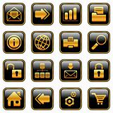 Web and Internet icons - golden series