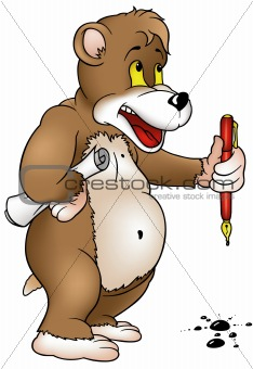 Bear with Pen