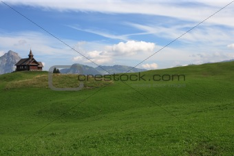 Church on a mountain meadow