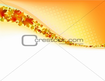 Autumn frame with copyspace