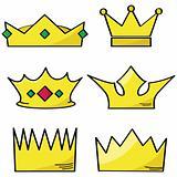 Cartoon crowns