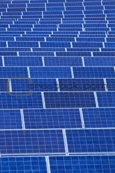 czech republic, bohemia - sunlight collectors at solar panel station