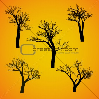 Five Silhouette Vector