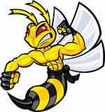 Fighting Wasp Mascot
