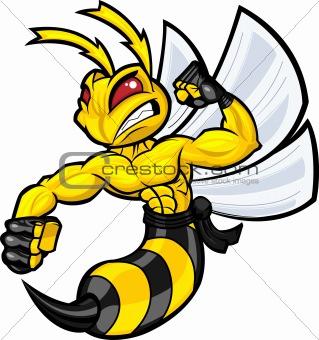 Fighting Wasp Mascot