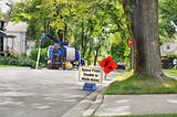 service truck roadwork sign