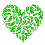 Leaves green heart shape for your design