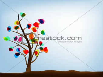 Autumn tree abstract background