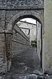 Alleyway. Bevagna. Umbria.