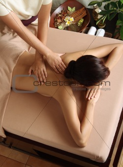 Woman getting a luxury massage