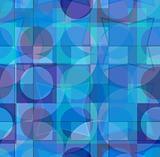 Blue geometric Seamless vector pattern