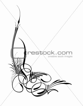 Abstract botany elements of ornament. Vector