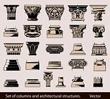 Set of columns and architectural structures