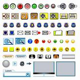 Icon and Button Set for Web