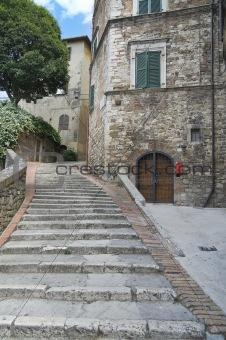 Alleyway. Perugia. Umbria.